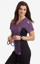 Flexi V-Neck Scrub Top by MOBB - Indigo (IN)