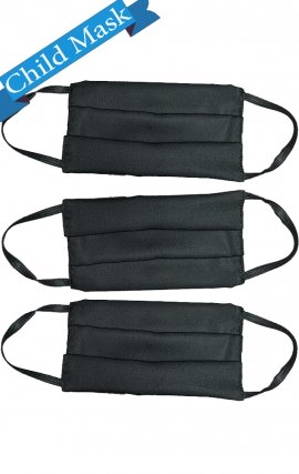 Child AV-FMCHILD Black Reusable Cloth Face Mask 3 Pack - *FINAL SALE
