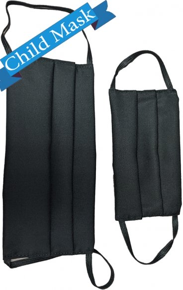 Child AV-FMCHILD 3 Pack Black Reusable Cloth Face Mask - *FINAL SALE - PM2.5 Replaceable Filter