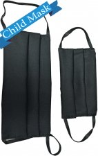 Child AV-FMCHILD Black Reusable Cloth Face Mask 3 Pack - *FINAL SALE
