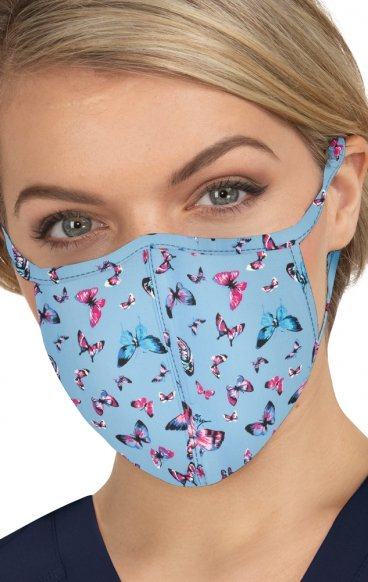 BA157 koi Cloth Scrub Face Mask - Bright Butterflies - PM2.5 Replaceable Filter