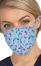 BA157 koi Scrub Face Mask - Bright Butterflies