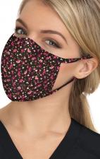 BA157 koi Scrub Face Mask - Ditsy Floral Raspberry