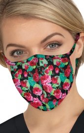 BA157 koi Cloth Scrub Face Mask - Bloomerang Floral - PM2.5 Replaceable Filter