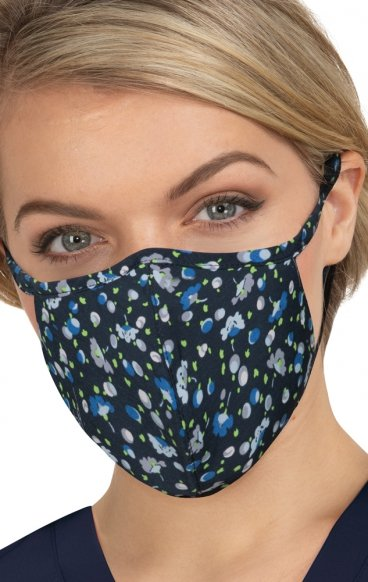 BA157 koi Cloth Scrub Face Mask - Ditsy Floral Blue - PM2.5 Replaceable Filter