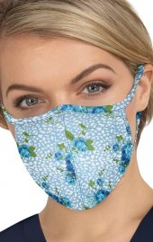 BA157 koi Cloth Scrub Face Mask - Floral Leopard - PM2.5 Replaceable Filter