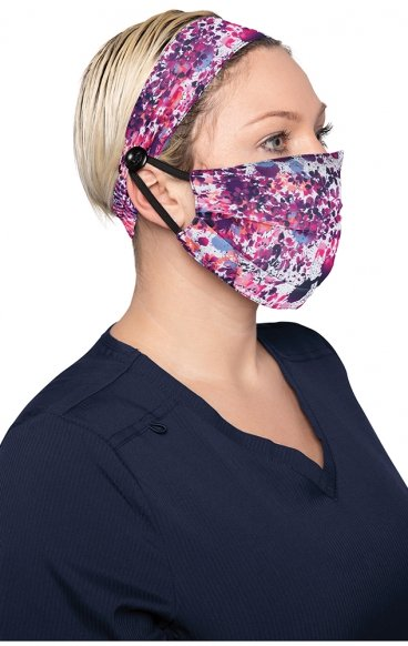 A162 koi Fashion Cloth Mask + Headband Set - Splatter Floral - PM2.5 Replaceable Filter
