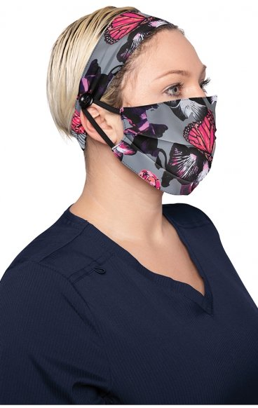A162 koi Fashion Cloth Mask + Headband Set - Orchid Bloom - PM2.5 Replaceable Filter