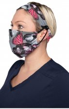 A162 koi Fashion Mask + Headband Set - Orchid Bloom
