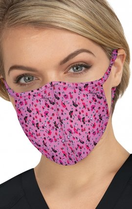 BA157 koi Scrub Face Mask - Ditsy Floral Light Orchid