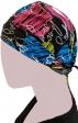 GTCP Zinnia Stretch Unisex Scrub Caps - Print: Colour Hearts