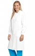 "AVLC02 Full-Length 42"" Unisex Lab Coat Snap-Front With Knitted Cuffs - Women's View"