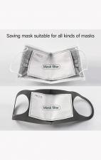A162 koi Fashion Cloth Mask + Headband Set - Stained Glass Butterfly