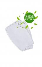A162 koi Fashion Cloth Mask + Headband Set - Scrapbook - PM2.5 Replaceable Filter