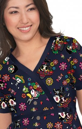1003TKD koi Stretch Luna tokidoki Top - Day of the Dead