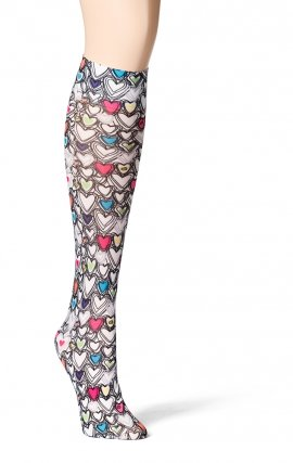 480 WonderWink Collection Print Compression Socks - Wink With Love