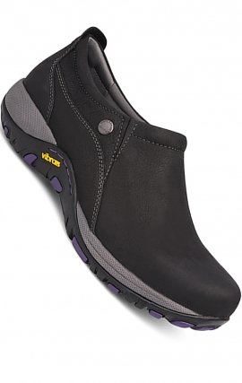 Patti Black Milled Nubuck by Dansko - Slip Resistant & Waterproof leather