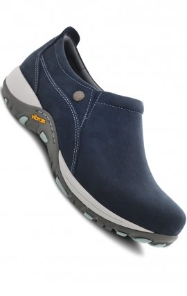 Patti Navy Milled Nubuck by Dansko - Slip Resistant & Waterproof leather