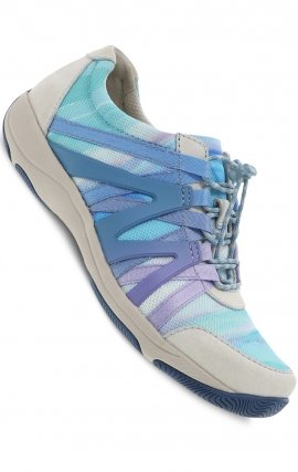 Henriette Blue Multi Suede by Dansko - Natural Arch Technology & Stain-protected Leather Uppers