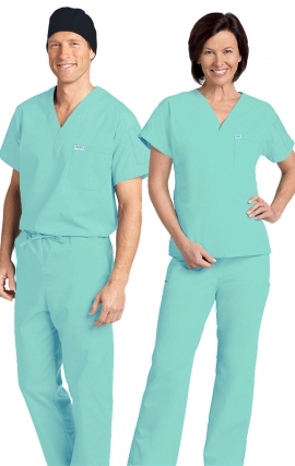 *FINAL SALE 306/306 LIGHT GREEN MOBB Classic Scrub Set - Two Piece (Top & Pant)