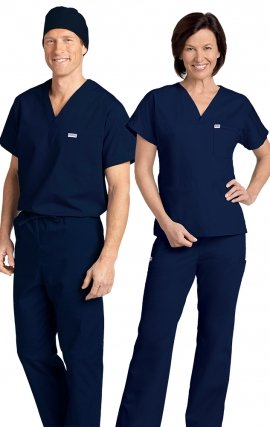*FINAL SALE 306/306 Navy MOBB Classic Scrub Set - Two Piece (Top & Pant)