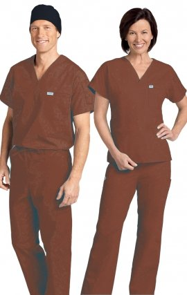 *FINAL SALE 306/306 NUTMEG MOBB Classic Scrub Set - Two Piece (Top & Pant)