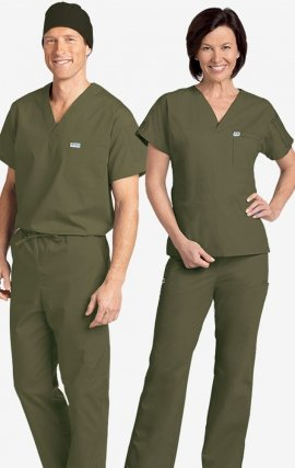 *FINAL SALE 306/306 Olive MOBB Classic Scrub Set - Two Piece (Top & Pant)