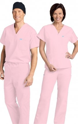 *FINAL SALE 306/306 PINK MOBB Classic Scrub Set - Two Piece (Top & Pant)