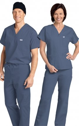 *FINAL SALE 306/306 POSTMAN BLUE MOBB Classic Scrub Set - Two Piece (Top & Pant)