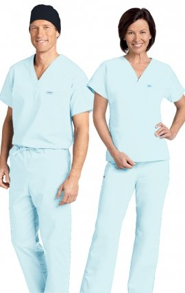 *FINAL SALE 306/306 POWDER BLUE BLUE MOBB Classic Scrub Set - Two Piece (Top & Pant)