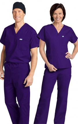 *FINAL SALE 306/306 PURPLE MOBB Classic Scrub Set - Two Piece (Top & Pant)