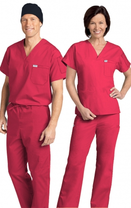 *FINAL SALE 306/306 RASPBERRY MOBB Classic Scrub Set - Two Piece (Top & Pant)