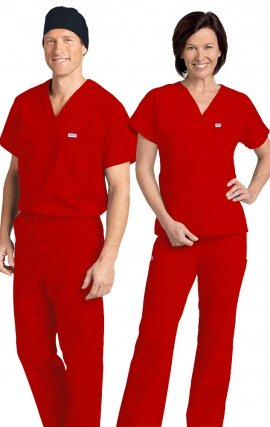 *FINAL SALE 306/306 RED MOBB Classic Scrub Set - Two Piece (Top & Pant)