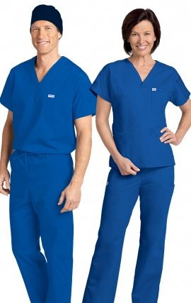 *FINAL SALE 306/306 ROYAL BLUE MOBB Classic Scrub Set - Two Piece (Top & Pant)