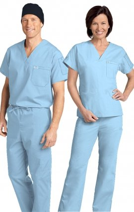 *FINAL SALE 306/306 SKY BLUE MOBB Classic Scrub Set - Two Piece (Top & Pant)