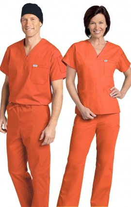 *FINAL SALE 306/306 TANGERINE MOBB Classic Scrub Set - Two Piece (Top & Pant)