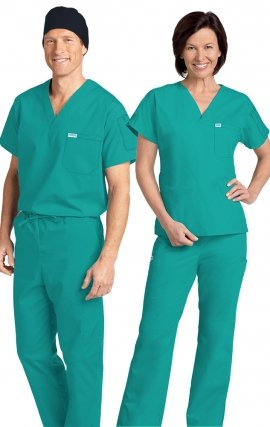 *FINAL SALE 306/306 TEAL MOBB Classic Scrub Set - Two Piece (Top & Pant)
