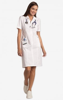 PD570 MOBB Zip Front Scrub Dress