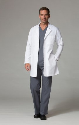 7551 Lab Coats - Unisex Twill Lab Coat - Men's View