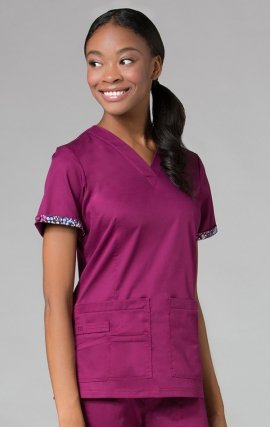 1722 PrimaFlex - Inner Beauty V-Neck Top - Plum