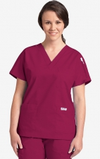MOBB Classic 3 Pocket Scrub Top - Burgundy (BU)