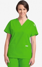 MOBB Classic 3 Pocket Scrub Top - Lime Green (LM)