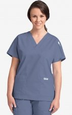 MOBB Classic 3 Pocket Scrub Top - Postman Blue (PS)