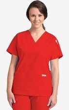 MOBB Classic 3 Pocket Scrub Top - Red (RE)