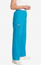 MOBB Unisex Perfect 5 Pocket Scrub Pant - Aqua (AQ)