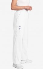 MOBB Unisex Perfect 5 Pocket Scrub Pant - White (WH)