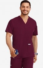 MOBB Classic Unisex 3 Pocket Scrub Top (Men's View) - Burgundy (BU)