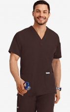 MOBB Classic Unisex 3 Pocket Scrub Top (Men's View) - Cappuccino (CN)