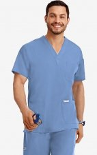 MOBB Classic Unisex 3 Pocket Scrub Top (Men's View) - Ceil (CE)