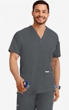 MOBB Classic Unisex 3 Pocket Scrub Top (Men's View) - Charcoal (CC)
